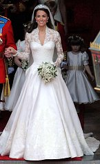 Kate Middleton, když se z ní stala Vévodkyně z Cambridge v roce 2011.