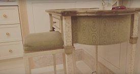 Kosmetický stolek byla první věc, kterou si Kim pořídila do bytu v New Yorku.