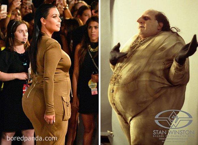 Kim Kardashian, nebo tučnák z Batmana?
