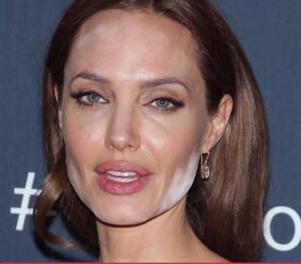 Angelina Jolie - transparentní pudr je potřeba do pleti dobře zapracovat