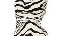 Zebří šaty vyniknou na štíhlé postavě s plným poprsím. (Topshop, v online shopu 1499 Kč)