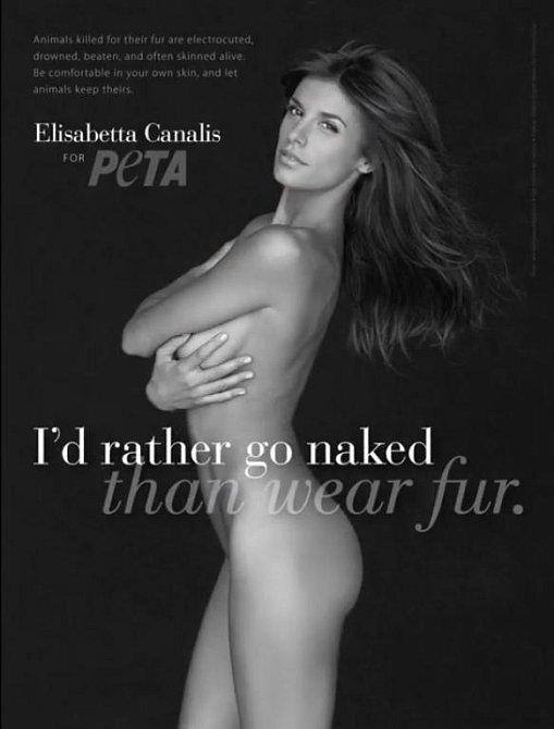 Tito slavní se svlékli pro organizaci PETA - Elisabetta Canalis