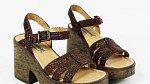 Boty na korkové platformě