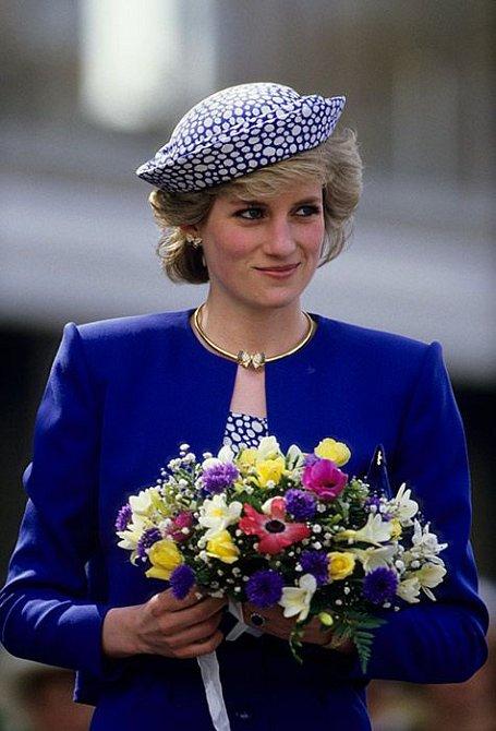 Diana trpěla na šperky.