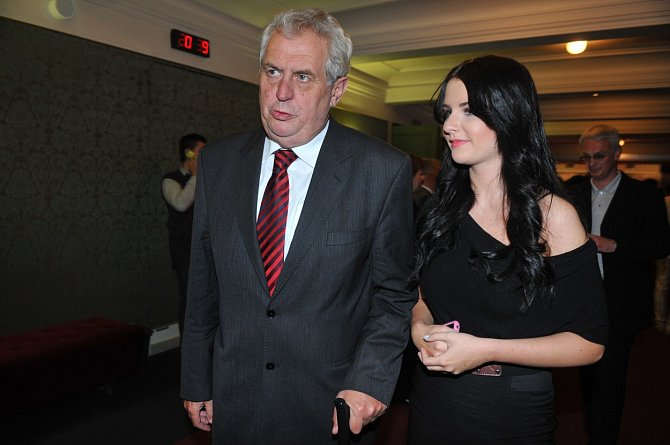 Miloš Zeman s dcerou Kateřinou