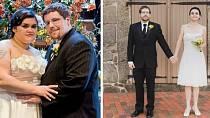 Tito manželé se rozhodli, že čtvrté výročí svatby oslaví obnovením slibu a že chtějí, aby jim to tentokrát ve svatebním slušelo. Po roce a půl snažení se zadařilo!