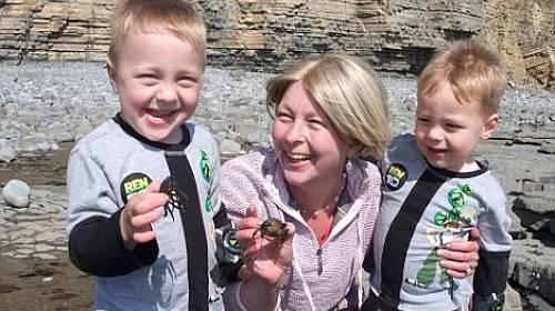 Kate Greene se svými syny, když ještě byla zdravá.