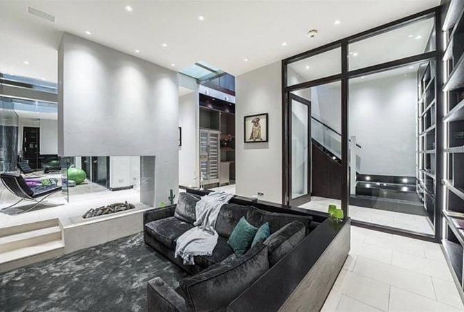 Dům Nicole Kidman v Londýně je velice moderní.