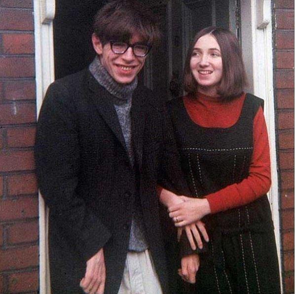 Stephen Hawking a žena Jane Wilde 1965