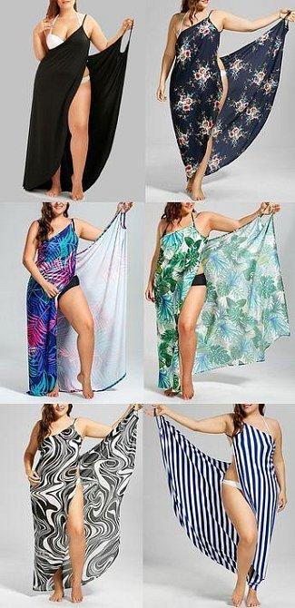 Pokud se v plavkách přece jen vůbec necítíte, zkuste si pořídit takové plážové šaty.