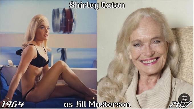 Herečka Shirley Eaton coby Jill Masterton