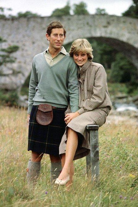 Princ Charles s princeznou Dianou