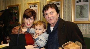 Pavel Trávníček s rodinou