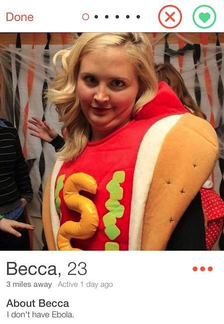Nějaká milovnice hotdogů.