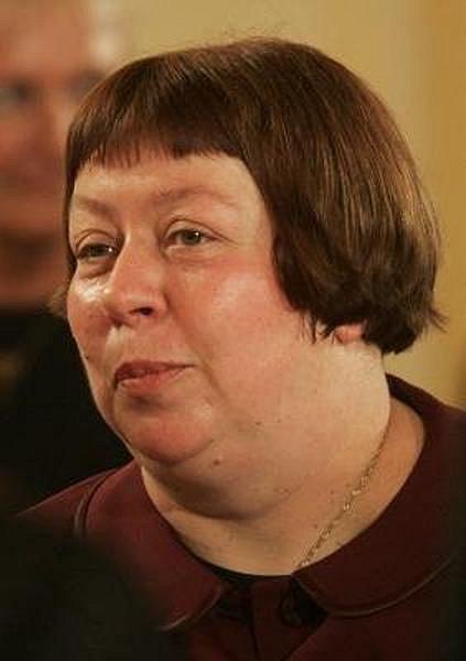 Zuzana Paroubková na Pražském hradě při oslavě 60. výročí od konce druhé světové války - 8. 5. 2005