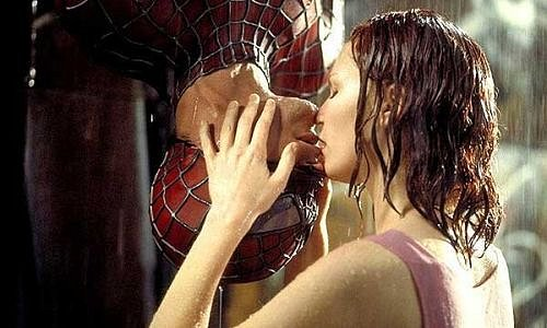 Film Spiderman; Tobey Maguire a Kirsten Dunst