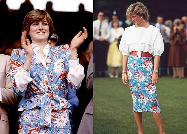 Tady Diana u letitého kostýmku oblékla znovu jen sukni.