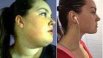 Jessica ukazuje proměny tváře a krku po zhubnutí.