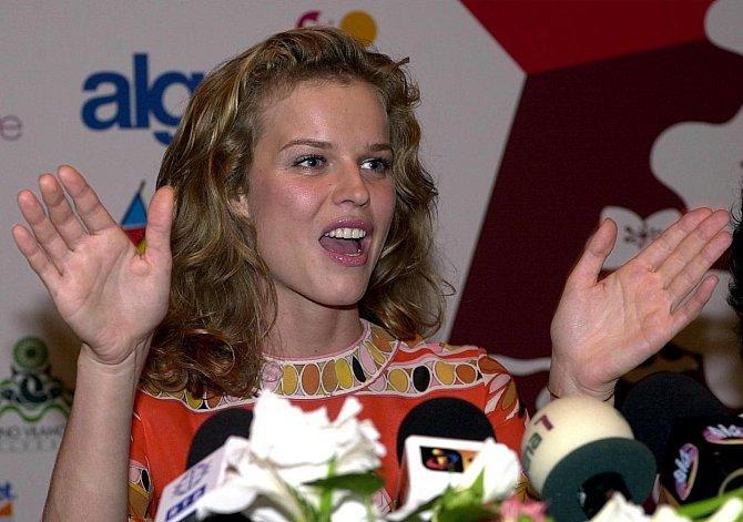 Eva Herzigová na začátku své kariéry.