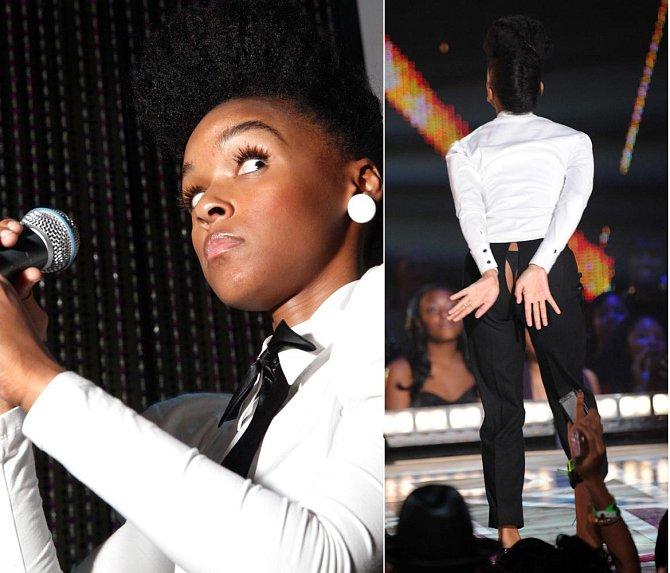 Janelle Monae nezvládla taneční kreace a kalhoty povolily