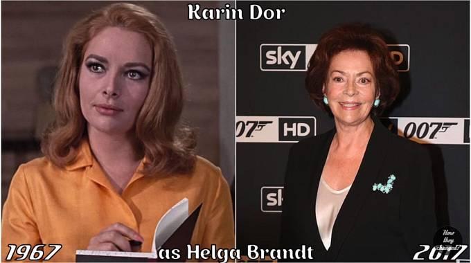 Herečka Karin Dor coby Helga Brandt