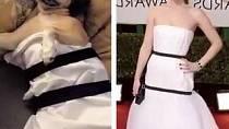 Jennifer Lawrence v roce 2014 inspirovala svou netradiční minimalistickou róbou mnoho vtipálků. Ti ji na sociální síti parodovali ve velkém.