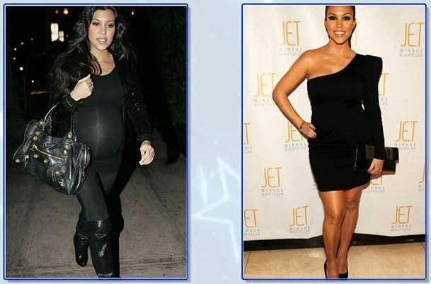 Kourtney Kardashian 9 týdnů po porodu druhého dítěte