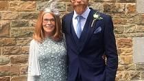 Gwilym Pugh s maminkou na svatbě bratra.