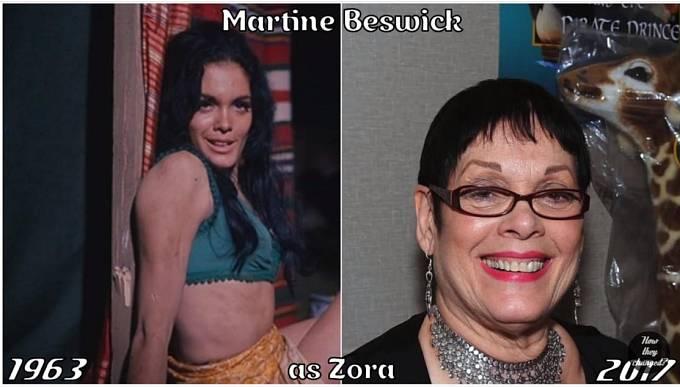 Herečka Martine Beswick coby Zora