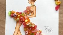 Neskutečně krásné šaty z jídla