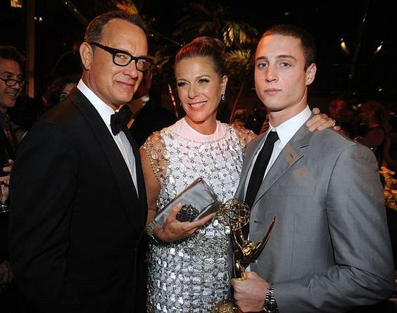 Tom Hanks, Rita Wilson a syn Chet
