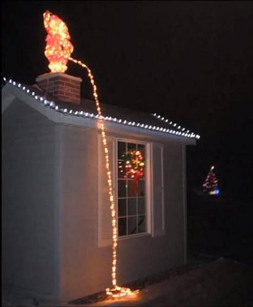 I čůrající Santa asi nesklízí obdiv.