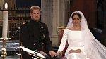 Harry a Meghan během obřadu.