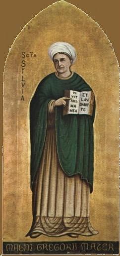 Svatá Silvie, matka svatého Řehoře Velikého