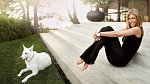 Jennifer Aniston a její milovaná fenka Dolly.