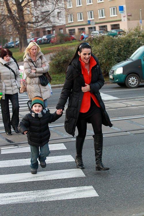 Libuška Vojtková a syn Matýsek