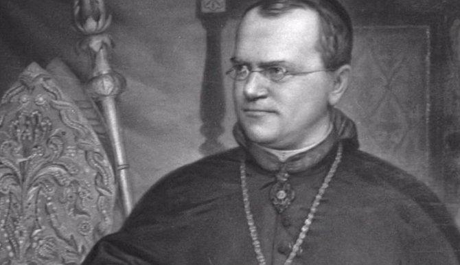 Gregor Mendel, opat augustinského kláštera v Brně objevil jako první základy genetiky a dědičnosti.