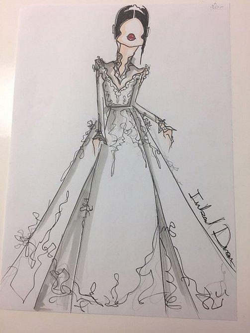 Toto je první návrh značky Inbal Dror svatebních šatů krásné Meghan.