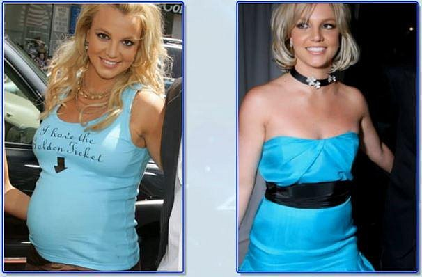 Britney Spears 4 měsíce po porodu
