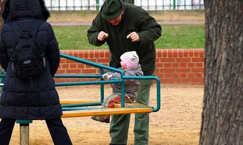 Dítě na kolotoči