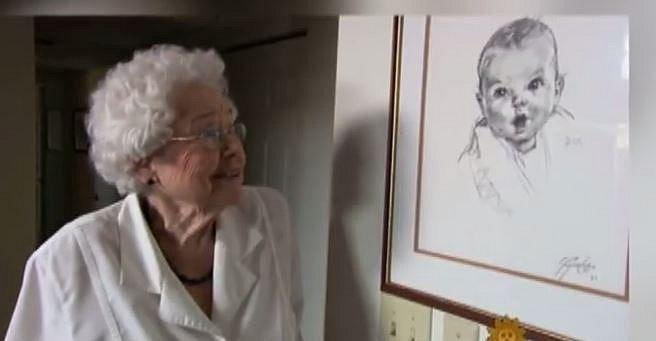 Ann Turner Cook - Když byly této dáme 4 roky, sousedka nakreslila její podobiznu. Ta se pak stala součástí značky Gerber.