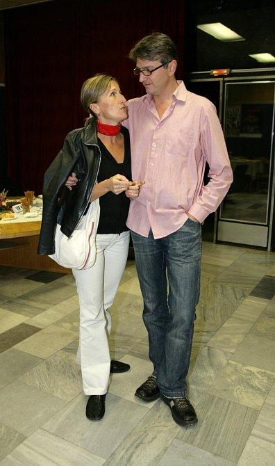 Jan Svěrák s manželkou