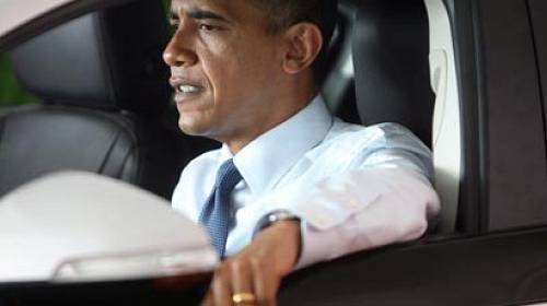 Americký prezident za volantem