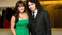 Ewa Farna s manželem Martinem Chobotem, který je kytaristou její kapely.