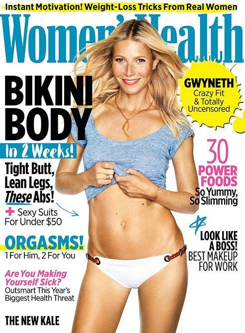 Gwyneth Paltrow na titulní stránce časopisu Women´s Health