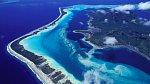 <p>Pohled z letadla na ostrov Bora Bora</p>