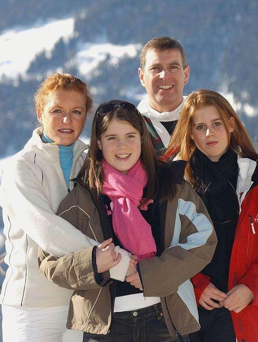 Princezna Eugenie s Beatrice a rodiči