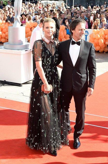 Daniela Peštová s partnerem Pavlem Haberou.