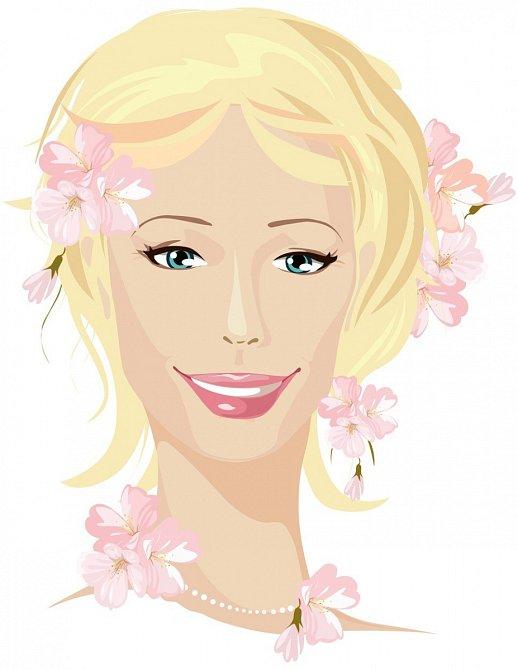 Jarní typ má světlé vlasy, světlou pleť a světlé oči.
