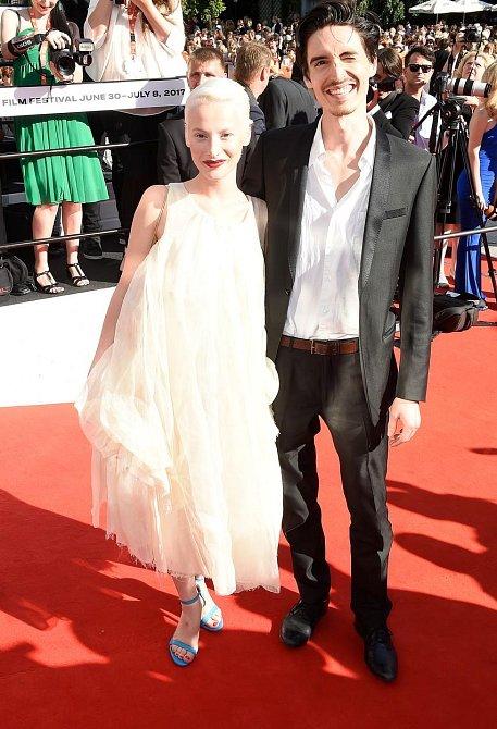 Anna Fialová s partnerem.